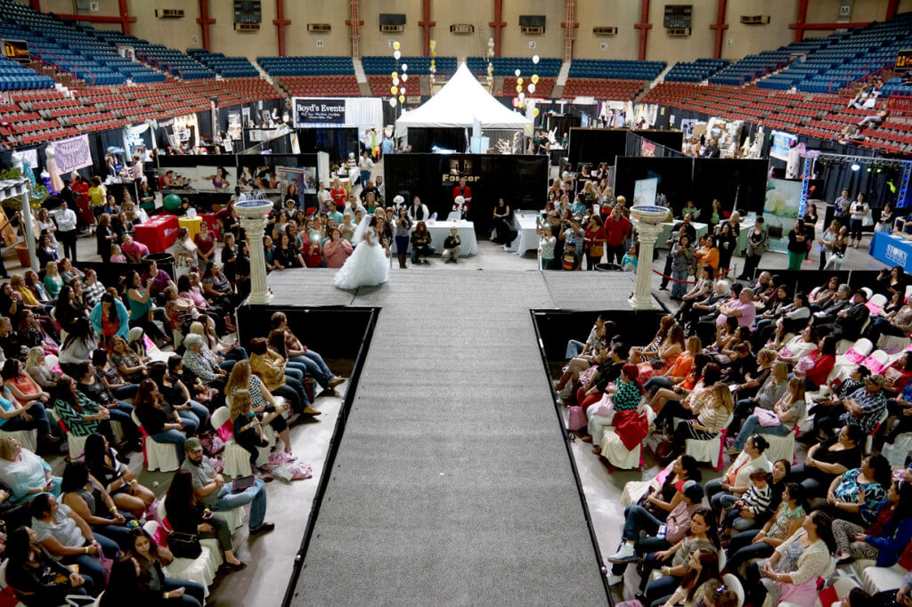 Bridal fashion show at the West Texas Bridal Showcase in San Angelo Texas